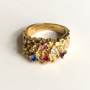 Vintage | Gold Nugget Multi Stone Ring